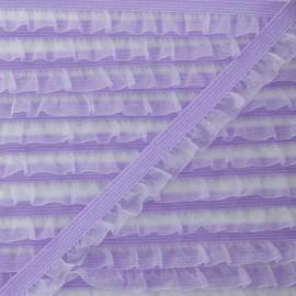 Flounce Muslin Elastic Ribbon - Lilac x 1m