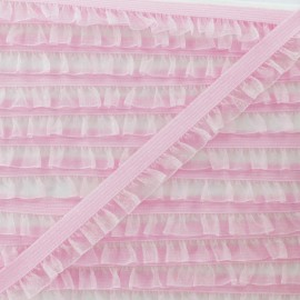 Galon Elastique Mousseline - Rose x 1m
