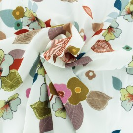 Tissu Crêpe Séduisante - blanc x 10cm