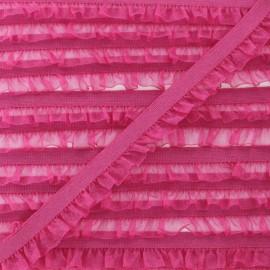 Flounce Muslin Elastic Ribbon - Fuchsia x 1m