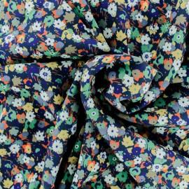 Tissu Crêpe Trépidante - bleu x 10cm