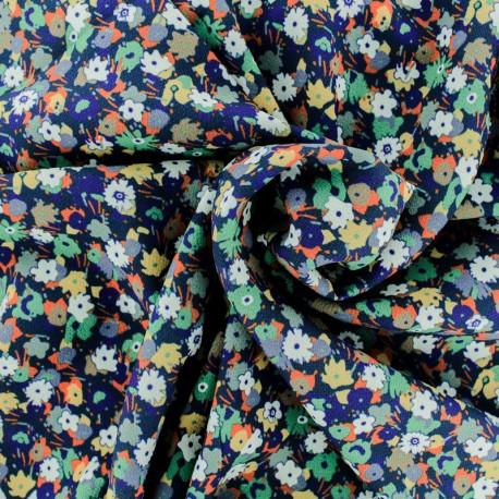 Tissu Crêpe Trépidante - bleu x 50cm