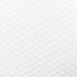Quilted fabric single-sided Diamond - White x 10cm
