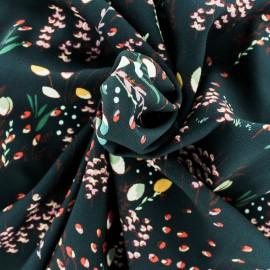 Crepe fabric - Black Délicate x 10cm