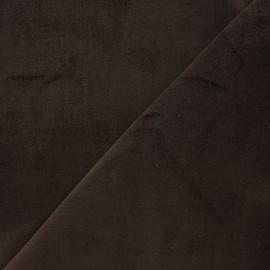 Tissu Velours ras Bradford - chocolat x 10cm
