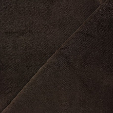 Tissu Velours ras Bradford - chocolat x10cm