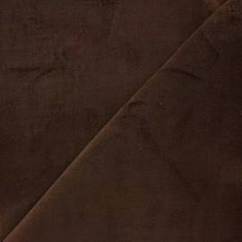 Tissu Velours ras Bradford - marron x 10cm