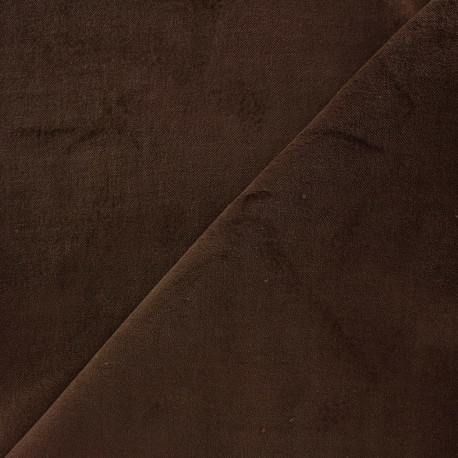 Short velvet fabric Bradford - brown x 10cm