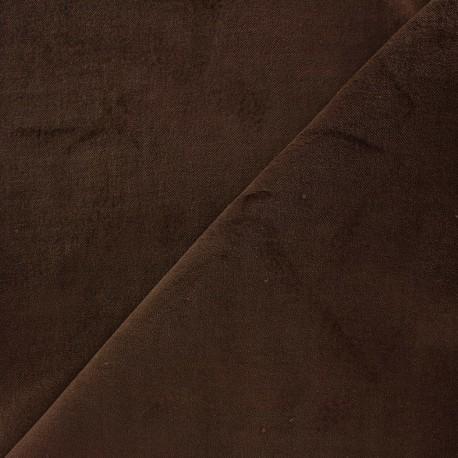 Tissu Velours ras Bradford - marron x10cm