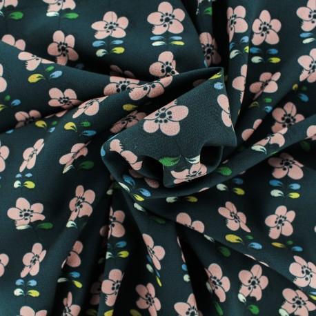 Tissu Crêpe Renversante - noir x 50cm
