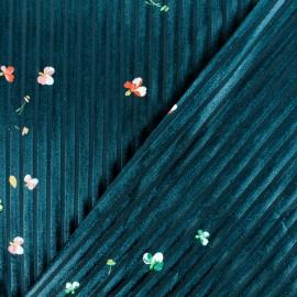 Tissu velours ajouré Passionnante - vert sapin x 10cm