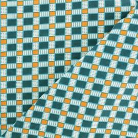 Petit Pan Cotton fabric - Turquoise Oki x 10cm