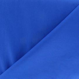Tissu Popeline bleu Roy x10cm