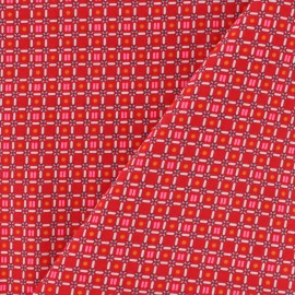 Petit Pan Cotton fabric - Red Till x 10cm