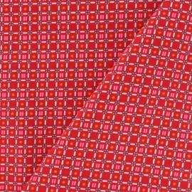 Tissu coton Petit Pan Till - Rouge x 10cm
