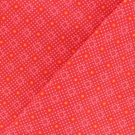 Petit Pan Cotton fabric - Red Ketill x 10cm