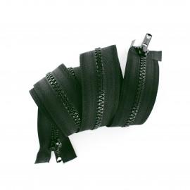Fermeture Eclair® double curseur bouche à bouche non séparable synthétique moulée - vert lichen