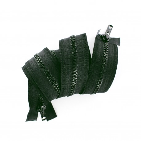 closed-end 2-way moulded zipper - lichen green