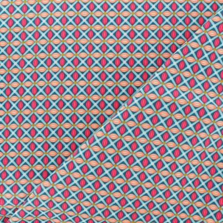 Petit Pan Cotton fabric - Green Jokull x 10cm