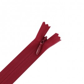 Concealed 4 mm zip - red
