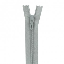 Closed bottom zipper - grey