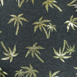 Cotton Jersey fabric - Dark Grey/Gold Bee Passion x 10cm