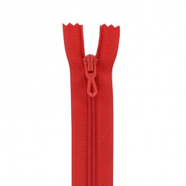 Closed bottom zipper - red