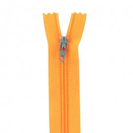 Closed bottom zipper - fluorescent orange