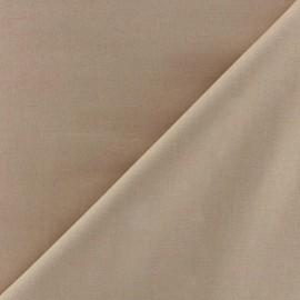 Tissu Popeline beige