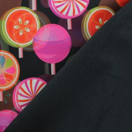 Tissu Softshell Lollipop - noir x 10cm