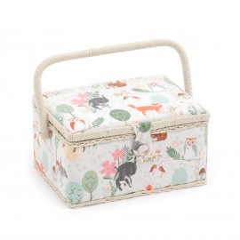 Medium Size Sewing Box - Woodland