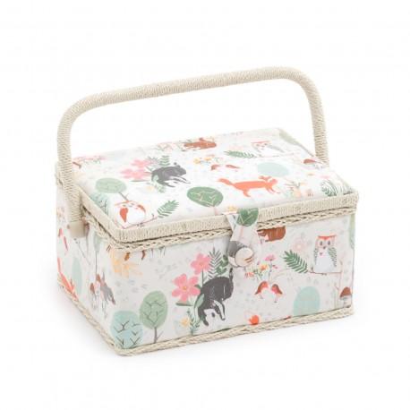 Medium Size Sewing Box - Woodland