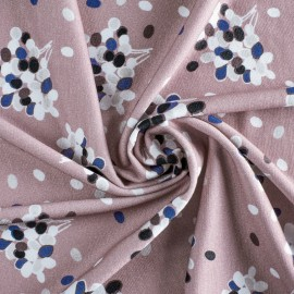 Heavy weight Viscose fabric - Pink Prunille x 10 cm
