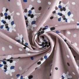 Tissu jersey viscose Prunille - vieux rose x 10 cm