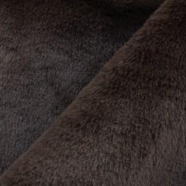 Tissu fourrure Malmo - marron x 10cm
