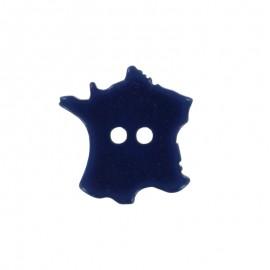 Bouton Polyester France 18 mm - Bleu