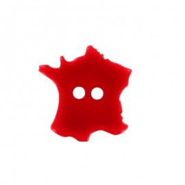 Bouton Polyester France 18 mm - Rouge