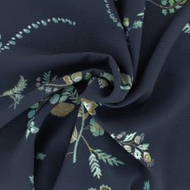 Tissu crêpe Sophia - bleu x 10cm
