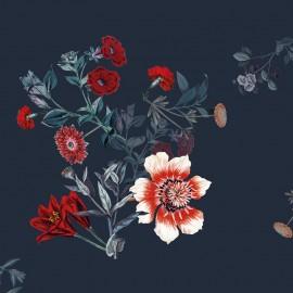 Polyester fabric - Blue Amboise x 10cm