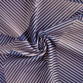 Tissu crêpe élasthanne Andrina - bleu x 10cm