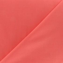 Tissu voile de coton corail x 10cm