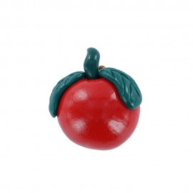 Fimo charm, tomato - red/green