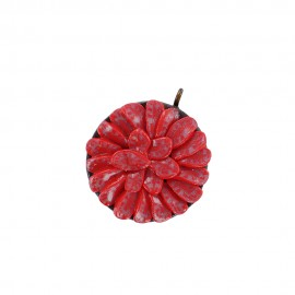 Fimo charm,  strawberry tart - red