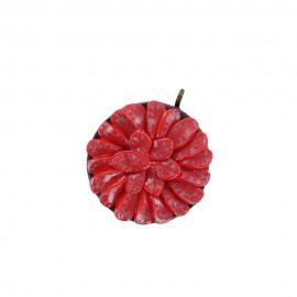 Fimo charm,  strawberry tart - red