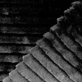 Tissu fourrure Tasrina - noir x 10cm