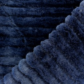 Faux Fur fabric - Navy blue Tsarina x 10cm