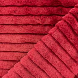 Tissu fourrure Tsarina - Framboise x 10cm