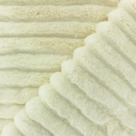Faux Fur fabric - Cream Tsarina x 10cm