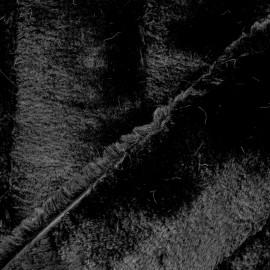 Tissu fourrure Tsar - noir x 10cm