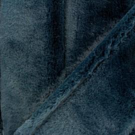 Tissu fourrure Tsar - bleu marine x 10cm